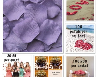 500 Hyacinth Rose Petals- Artificial Rose Petals for Weddings, Flower Girls & Petal Toss