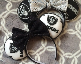 Oakland Raiders Inspired Mouse Ears (white or black)