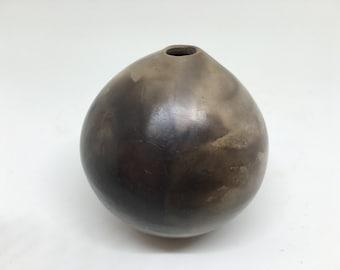 Smoke Fired Ceramic Vessel / Handmade Pottery