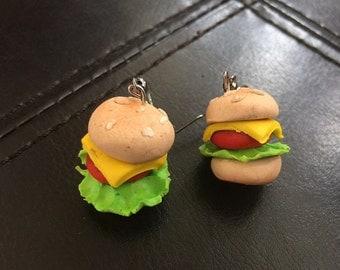 Handmade Cheeseburger Earings