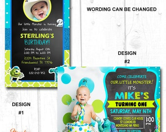 Free Shipping - MONSTERS INC Party SUPPLIES, Monsters Inc Birthday Invite, Monsters Inc Birthday Invitation Printable
