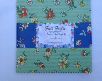 Fall Frolic 5 inch square charm pack by Kaye England for Wilmington Prints