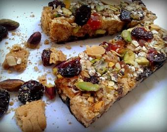 Crispy Granola bars Healthy snack Energy bars protein Cereal bars snack Wedding treats Party treats homemade granola Treats biscuit Baked