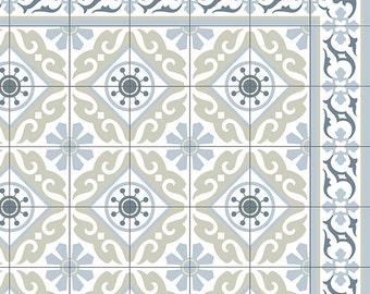 pvc vinyl mat tiles pattern decorative linoleum rug kitchen