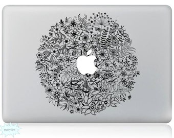 All Flowers Decal Mac Stickers Macbook Decals Macbook Stickers Apple Decal Mac Decal Stickers Laptop Decal