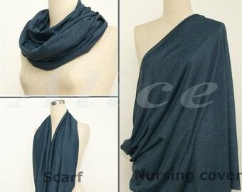 Nursing Cover Scarf ,Navy blue Infinity Scarf ,Nursing Scarf, Breatfeeding Cover, nursing cover