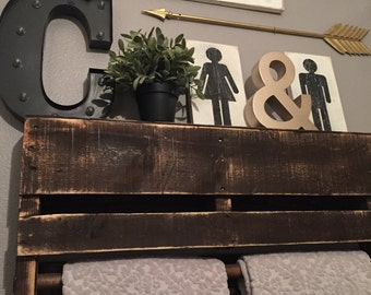 Gender sign | boy or girl sign | restroom sign | bathroom sign | bathroom decor | restroom decor | Rustic bathroom decor |