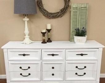 SOLD - Vintage White Dresser