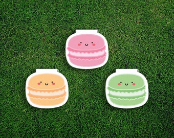 Magnetic Bookmark   Macaron Magnet Bookmark Pack of 3, Magnetic, Cute, Quirky, Food, Macaroon, Bookmarks.