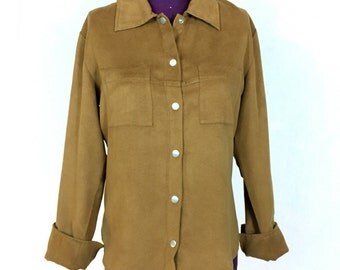 Vtg EXPRESS S Small Button Down Shirt Cuff Sleeves Double breast Pockets