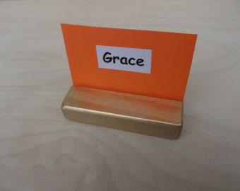 10 Place card holders, Golden holders, Table number holders, Menu holder, Wedding decor, Cafe, Photo props, Wedding, Gold holders, Holders