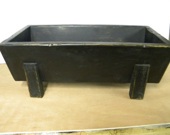 CLEARANCE SALE, Antique black with stain, primitive reproduction, distressed, trencher, dough bowl with a handrubbed finish