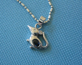 Tiny Sterling Mouse Necklace