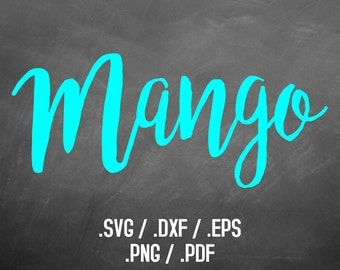 Mango Font Design Files For Use With Your Silhouette Studio Software, DXF Files, SVG Font, EPS Files, Png Font, Script Font Silhouette