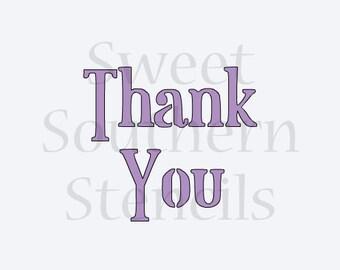 Thank You Stencil
