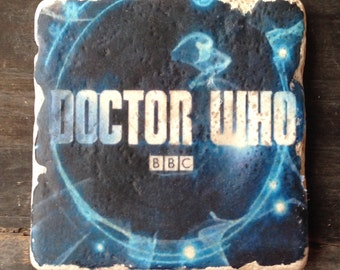 OVERSTOCK SALE: Doctor Who Logo Coaster or Decor Accent