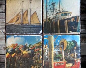 East Coast Boat Coasters x4