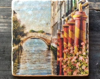 Venice Canal Crossing Tile