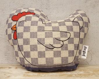 Pillow chicken, 100% handmade, Dutch design