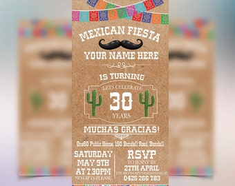 Mexican Fiesta Invitations