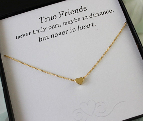 Gold Heart Necklace Best Friend gift Heart Necklace Gift