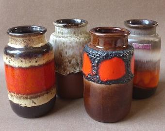 Scheurich 231-15 seventies vintage vase set of four vases West-Germany