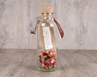 Engagement Message In A Bottle