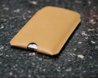 Leather phone sleeve, Leather IPhone 6/6s plus sleeve