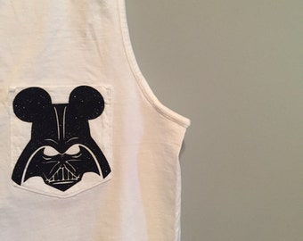 Darth Vader Disney Monogram Tank Top