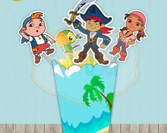 Captain Jake and the Neverland Pirate Birthday, Jake and the Neverland Pirate Centerpieces Captain Jake -Captain Jake printable