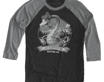 Loch Ness Monster ( Nessie ) Long Sleeve Beer Shirt