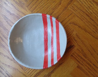 Jewelry Dish - Catch All Dish - Ring Dish - Clay Jewelry Dish - Handmade Jewelry Dish - Striped Dish - Handmade Polymer Clay Jewelry Dish