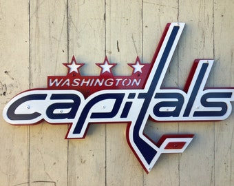 "Washington Capitals Metal Sign - 20"" x 13"""