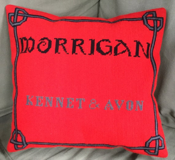 Bespoke needlepoint cushion, pillow, house name, boat name, made to order