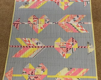 Love Arrows Baby Quilt