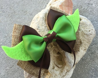 Yoda hair bow inspired star wars
