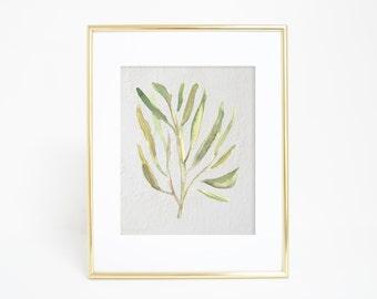 Beach Art Print, Seaweed Print, Watercolor Print, Sea Plant Decor, Beach Decor, Digital Art, Wall Art, Sea Weed Print Art Prints Watercolor
