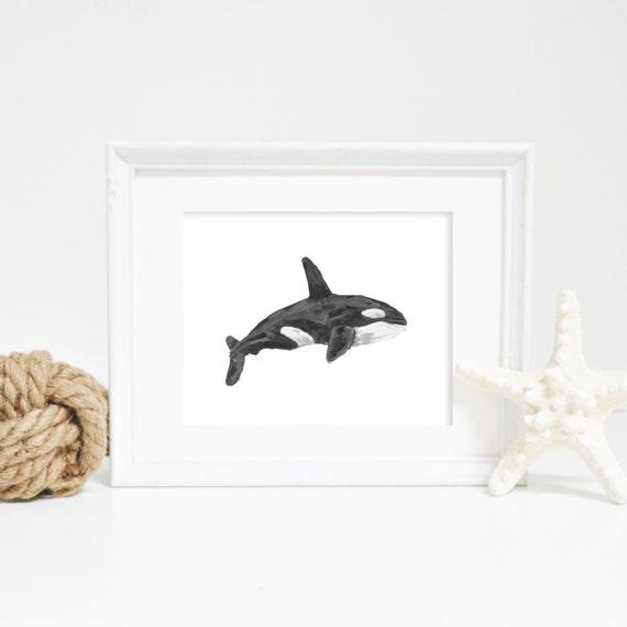 Whale Print, Art Printables, Orca Whale, Whale Wall Art, Orca Print, Killer Whale Art, Printable Art, Downloadable Art, Digital Print
