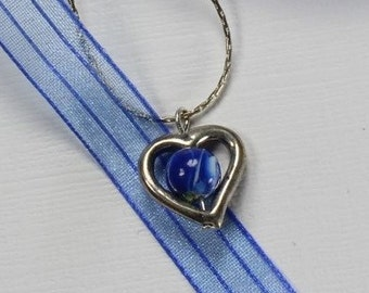 Heart Pendant  - Flower Petal Jewelry by My Beautiful Blue Moments