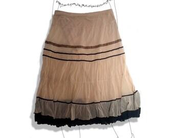 Pixie nymph boho gauzy skirt!