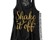 Shake it Off Glitter Tri-blend Racerback