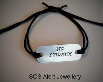 Slip Knot Adjustable Lightweight 40mm Tag Aluminium Medical Alert Bracelet