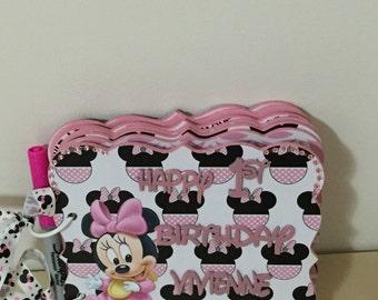 Minnie Mouse Inspired 1st Birthday Album, 1st Birthday Album, Birthday Album