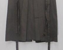 HOT SALE!!! Vintage Japanese Samurai Hakama Skirt / Andon / Kimono Pants / Striped Dark Green & Black