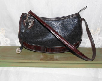 FREE SHIPPING...Vintage Leather Brighton Hobo Shoulderbag Purse
