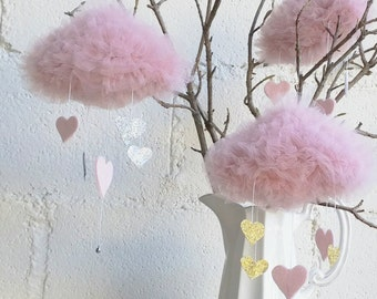 Little Blush Tulle Dreamy Cloud with Hearts