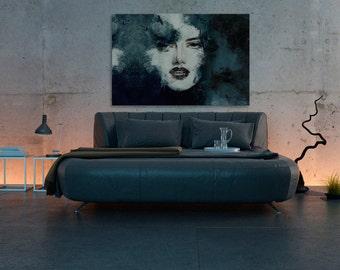 Canvas Print - WOMAN FACE - (22301)