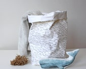 Storage basket for laundry, toys, plants... Birch, Nordic, Scandinavian, shabby chic, cottage style, rustic, functional design object