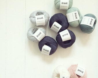 VALUE DEAL: 10 x 50 grams of Organic Cotton  + Free choice of 2 Strikdet kntting pattern