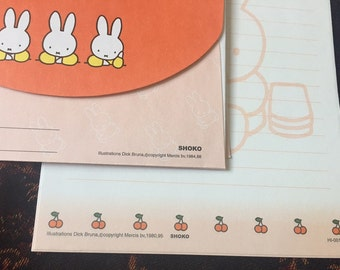 Vintage Miffy Letter Set Writing Paper and Envelopes 1988, 1995